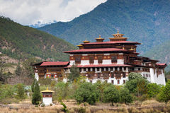 Punakha Dzong in Bhutan Royalty-vrije Stock Fotografie