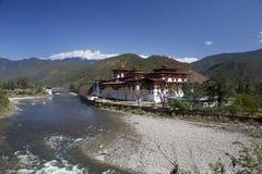 Punakha Dzong in Bhutan Stock Foto's