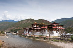 Punakha Dzong in Bhutan Stock Photography