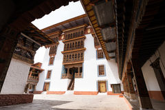 Punakha Dzong in Bhutan. Punakha Dzong or Pungthang Dewachen Phodrang (Palace of Great Happiness) in Punakha, the old capital of Bhutan Stock Image