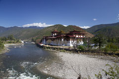 Punakha Dzong in Bhutan Stock Photos