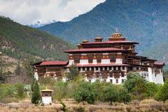 Punakha Dzong i Bhutan royaltyfri fotografi