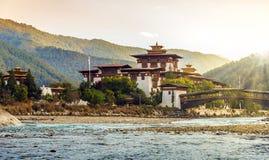 Punakha Dzong monaster w Bhutan obrazy royalty free
