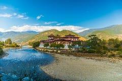 Punakha Dzong monaster w Bhutan obrazy stock