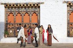 Punakha Dzong, Punakha, Бутан стоковое изображение