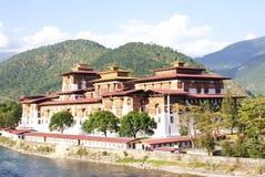 The Punakha Dzong at Punakha, Bhutan. Stock Photo
