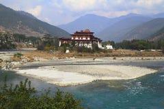 The Punakha Dzong Royalty Free Stock Photo
