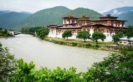 Punakha Dzong w Punakha, Bhutan Obraz Royalty Free