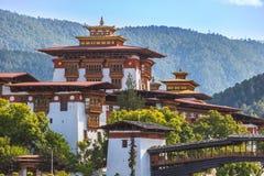 Punakha Dzong w Buthan fotografia royalty free