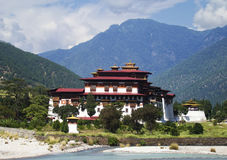Punakha Monastery in Bhutan Royalty Free Stock Photo