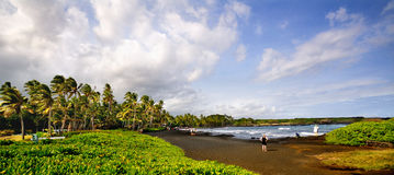 Punaluu Black Sand Beach Stock Photo