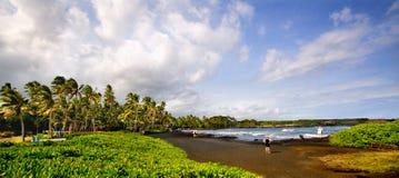 Punaluu Black Sand Beach Stock Photo
