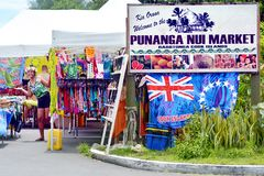 Punanga Nui Market Rarotonga Cook Islands. Punanga Nui Market in Avarua town, Cook Islands.It`s one of the highly regarded traditional markets in the South Royalty Free Stock Photo