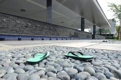 Puncak Alam清真寺的洗净液拖鞋infront雪兰莪的,马来西亚 免版税库存图片