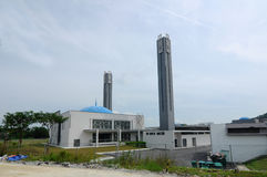 Puncak Alam Mosque at Selangor, Malaysia. SELANGOR, MALAYSIA – JANUARY 05, 2015: Puncak Alam Mosque located at Puncak Alam, Selangor, Malaysia with royalty free stock images