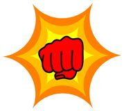 Punch. Line art design of punch icon Royalty Free Stock Images