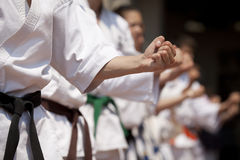 Punch. The punch is a fundamental part of the karate training Royalty Free Stock Image