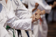 Punch. The punch is a fundamental part of the karate training Royalty Free Stock Photos