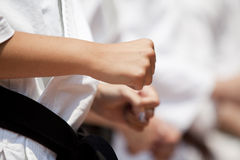 Punch. The punch is a fundamental part of the karate training Royalty Free Stock Photo