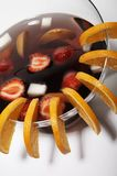 Punch. With orange, melon, strawberries and peaches Stock Photography