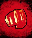 Punch. On red grunge background Royalty Free Stock Image