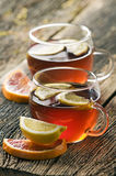 Punch. Fruit punch in glass close up shoot royalty free stock image