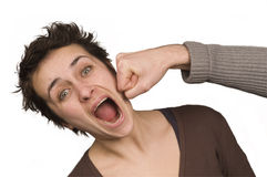 Punch!. A rare case of funny violence Stock Photography