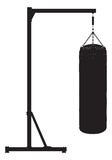 Punch bag outline silhouette. Wall tattoo Royalty Free Stock Photography