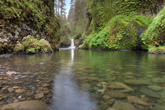 Punch Bowl Falls at Eagle Creek. Trails in Columbia River Gorge National Scenic Forest royalty free stock photography