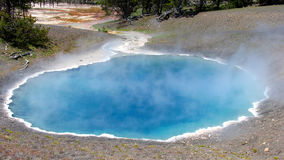 Punch Bowl spring - Hot spring in Yellowstone royalty free stock photo