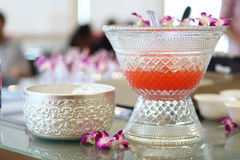 Punch Bowl on the table. Punch Bowl on clocktail party Stock Images