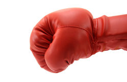 Punch by boxing glove royalty free stock photography