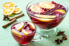 Punch - celebratory drink of wine, spices and fruit Stock Image