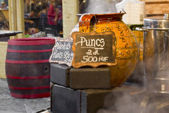 Punch on christmas fair in Budapest Royalty Free Stock Photography