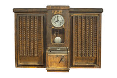 Punch clock, time recorder Stock Photography