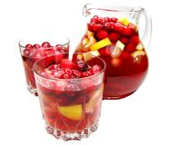 Punch cocktail drink with fruit Stock Images