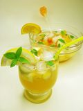 Punch cocktail drink with fruit Royalty Free Stock Image