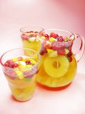 Punch cocktail drink with fruit Royalty Free Stock Photo