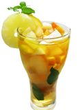 Punch cocktail drink with fruit Stock Photo