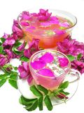 Punch cocktail tea drink with wild rose Royalty Free Stock Photo