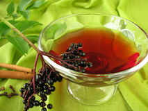 Punch with elderberries Stock Photo