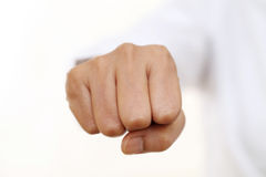 Punch fist isolated on white background Royalty Free Stock Photos