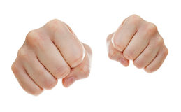 Punch fists isolated on white Stock Photography