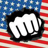 Punch flag. Creative design of punch flag Stock Images