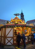 Punch house at Dresden Christmas market Royalty Free Stock Images
