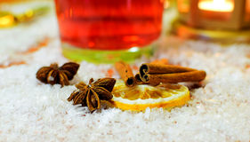 Punch ingredients. Christmas and winter background. Royalty Free Stock Images