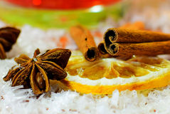 Punch ingredients. Christmas and winter background. Stock Photography