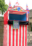 Punch & Judy booth, Ashover, Derbyshire. Royalty Free Stock Photos