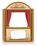 Punch and Judy Booth Brown Royalty Free Stock Photo