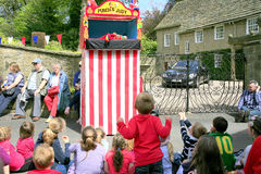 Punch and Judy, Derbyshire. Royalty Free Stock Photography